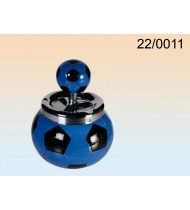 Blue Ceramic Push Down Ashtray