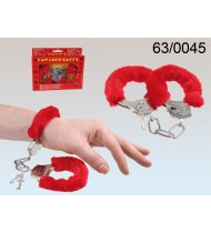 Cuffs Furry Love red