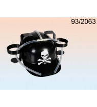Drinking hat, black with skull and bone