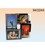Stainless steel picture frame for 4 photos