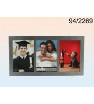 Aluminium picture frame for 3 photo