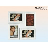 Pildiraam 4-le fotole, plastik, valge