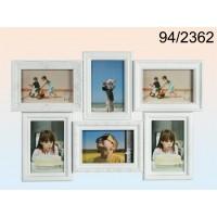 Pildiraam 6-le fotole, plastik, valge