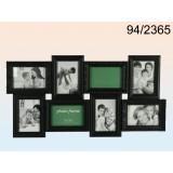 Pildiraam 8-le fotole, plastik, must
