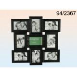 Pildiraam 9-le fotole, plastik, must