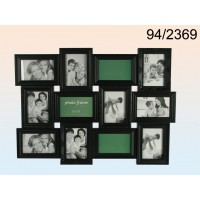 Pildiraam 12-le fotole, plastik, must