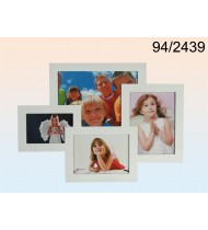 White wooden picture frame for 4 picture
