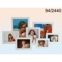 Pildiraam 7-le fotole, puidust, valge