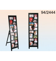 Black Wooden photo frame with leg, for 16 photos