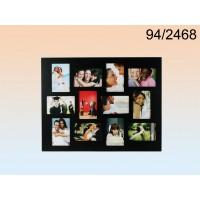 Pildiraam 12-le fotole, puidust, must