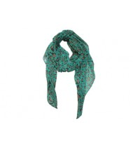 Scarf Diva with green and brown