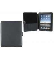 iPad case ABS, black with leather cover