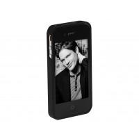 iPhone kaas, must, kummist viimistlus