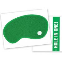 Uksematt Hole in One, roheline