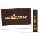 Uksematt Welcome, pruun