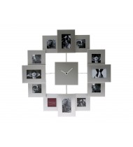 Photo frame clock Family Time aluminium