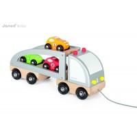 Puidust veoauto väikeste autodega
