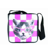 School bag Funky Head Cat, pink