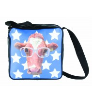 School bag Funky Head Cow, blue