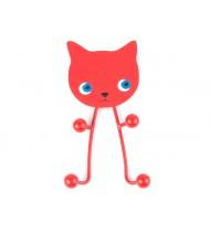Coathanger Cat metal red