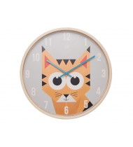Wall clock Geo Forest Tiger wood