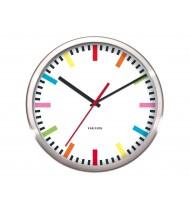 Wall clock Rainbow, steel white