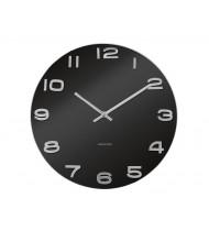 Wall clock Vintage black round glass