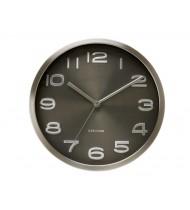 Wall clock maxie, black