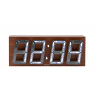 Alarm clock Bubble LED brown casing, white LED