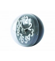 Alarm clock Numbers In Relief steel black