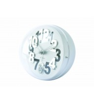 Alarm clock Numbers In Relief steel silver