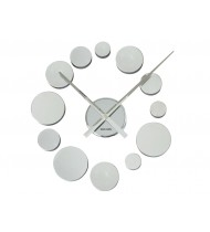 Wall clock DIY Dots chrome