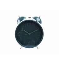 Alarm clock Twin Bell Nude numbers large grey