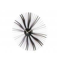 Wall clock Oopsy Daisy, black and white