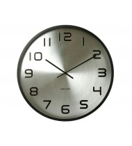 Wall clock Maxiemus numbers, matt black case steel