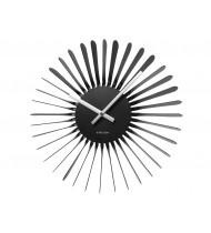 Wall clock Twister, black, aluminium