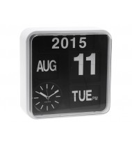 Wall clock Mini Flip white, black dial