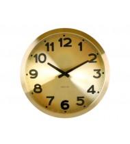 Wall clock Gold Station aluminium