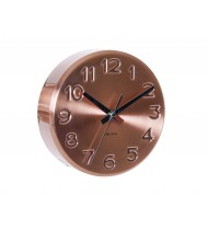 Wall Clock Bold Engraved, copper