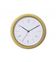 Wall clock Retro yellow steel