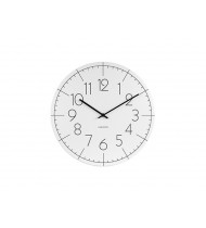 Wall clock Blade Numbers metal white