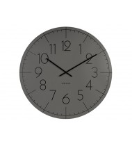 Wall clock Blade Numbers XL metal dark grey