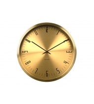 Wall clock Cased Index steel brass