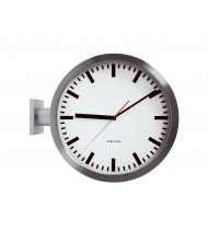 Wall clock Double Sided, aluminium