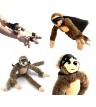 Screaming and flying slingshot Monkey