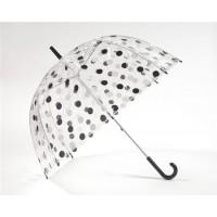 Läbipaistev vihmavari mustade/valgete täppidega
