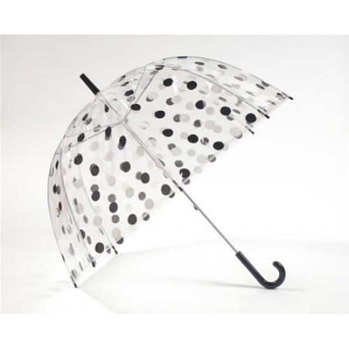 12bf80c55db Läbipaistev vihmavari mustade/valgete täppidega
